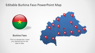 Burkina Faso PowerPoint Map