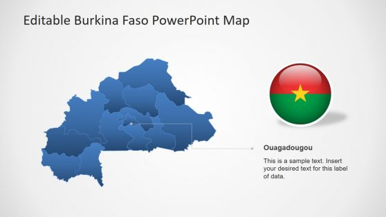 Outline Map of Burkina Faso Template