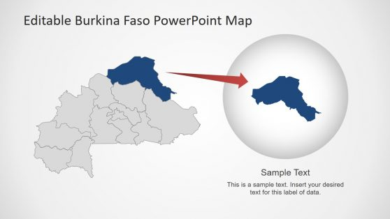 Outline Map PowerPoint Burkina Faso