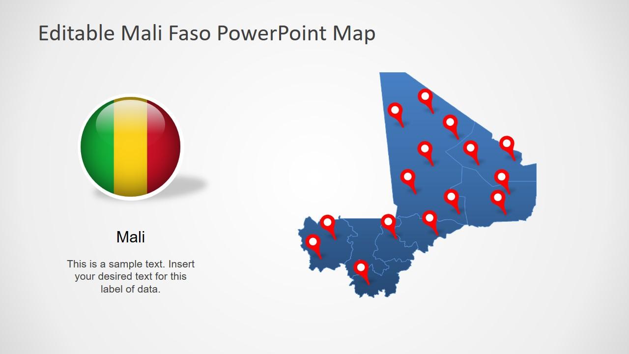 Flat Map of Mali