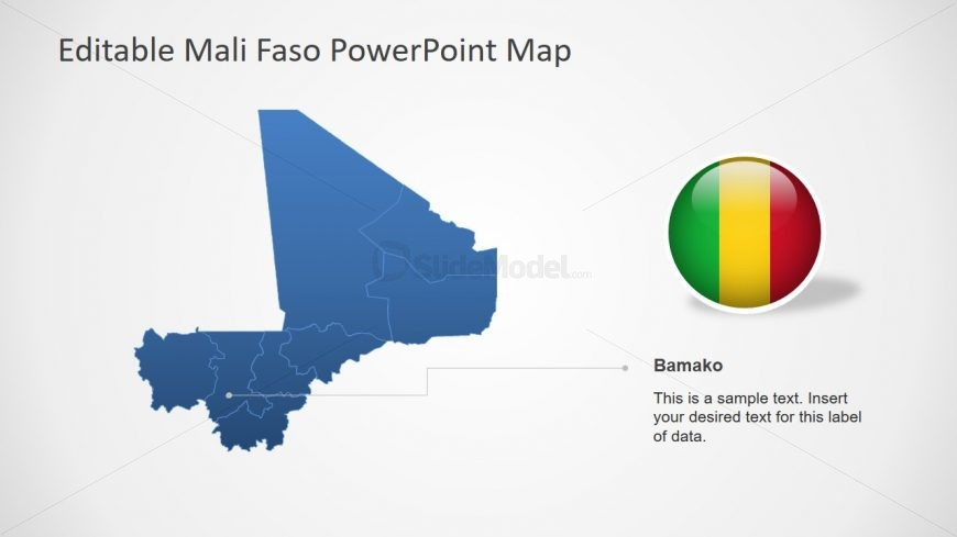 Blue Silhouette Map Mali