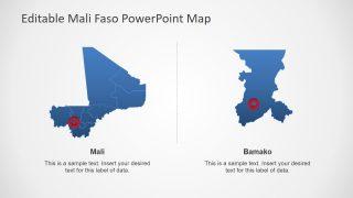 Bamako National Capital Outline Map