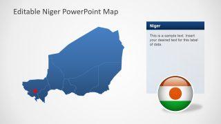 Slide of Blue Map for Niger