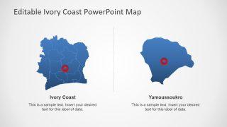 Map of Cote d'Ivoire Political Outline