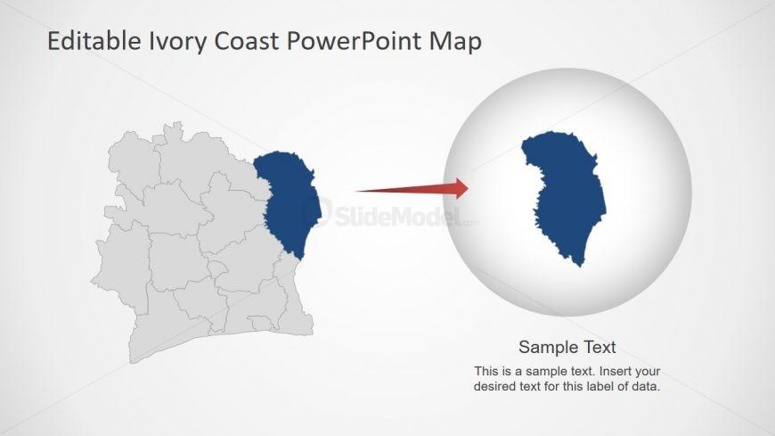 PPT Ivory Coast Map Layout