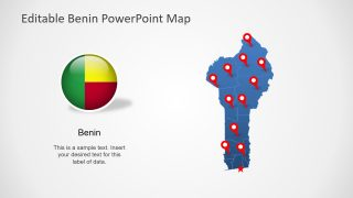Benin PowerPoint Map