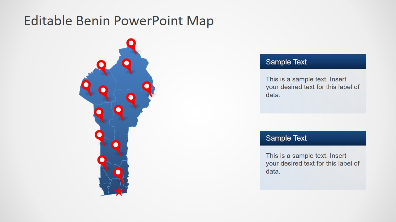 Slide of Maps for Benin