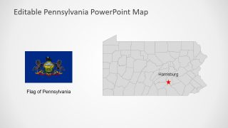 US State Map Flag PowerPoint