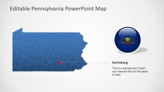 Silhouette Map Template for Pennsylvania