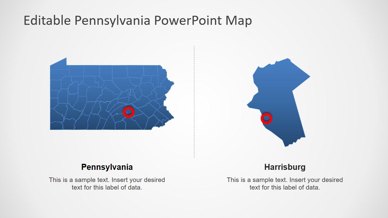 Visual Map of Pennsylvania State