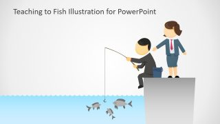 Teaching to Fish Illustration for PowerPoint