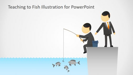 Teaching to Fish Illustration Slide