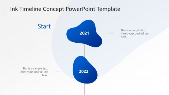 Ink Concept Timeline PowerPoint