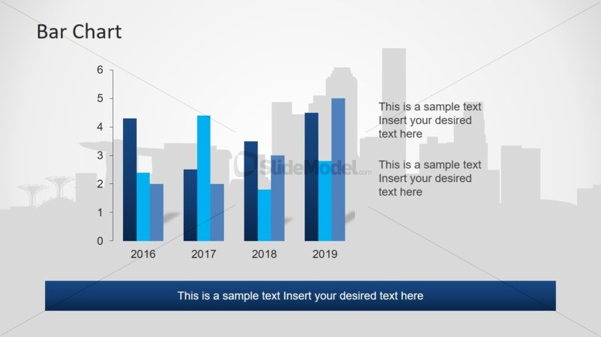 Slide of Multiple Bar Chart PowerPoint