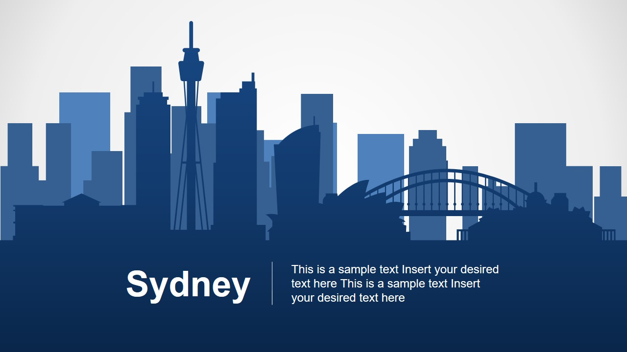 Silhouette City Landscape Sydney