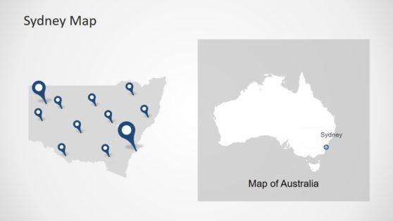 Editable Location Sydney Map PPT