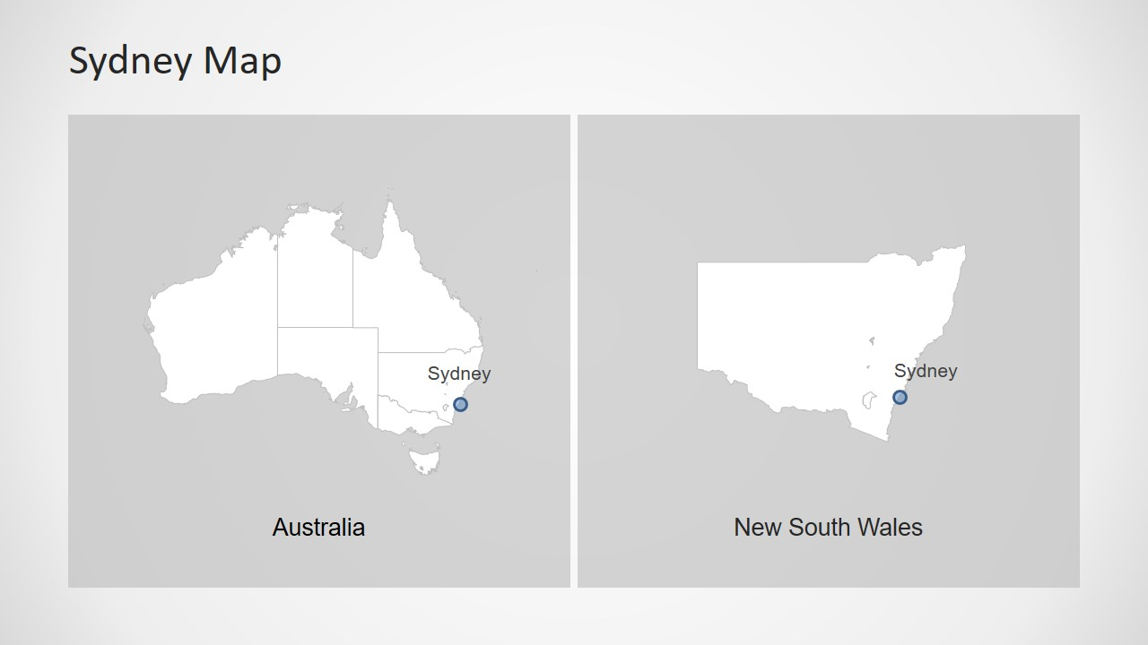 Map Template Design of Australia