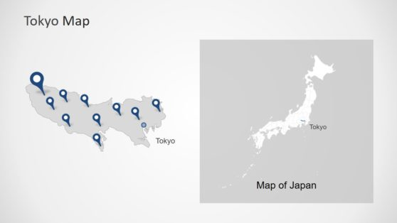 Editable Map of Tokyo Japan PPT