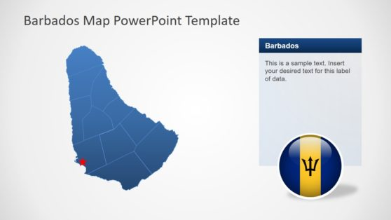Outline Map of Barbados PowerPoint