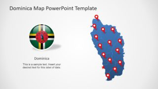 Editable Dominica Map PowerPoint Template