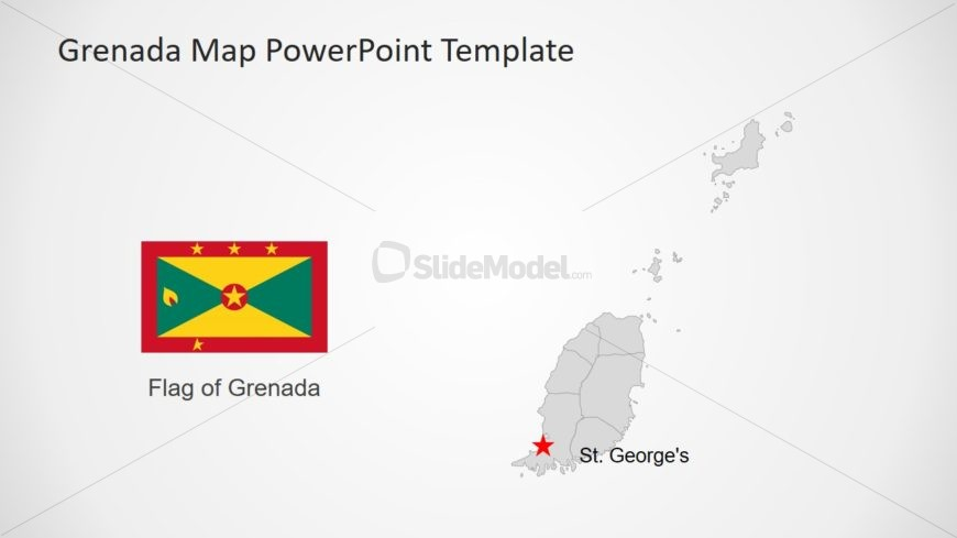 Map Template of Grenada