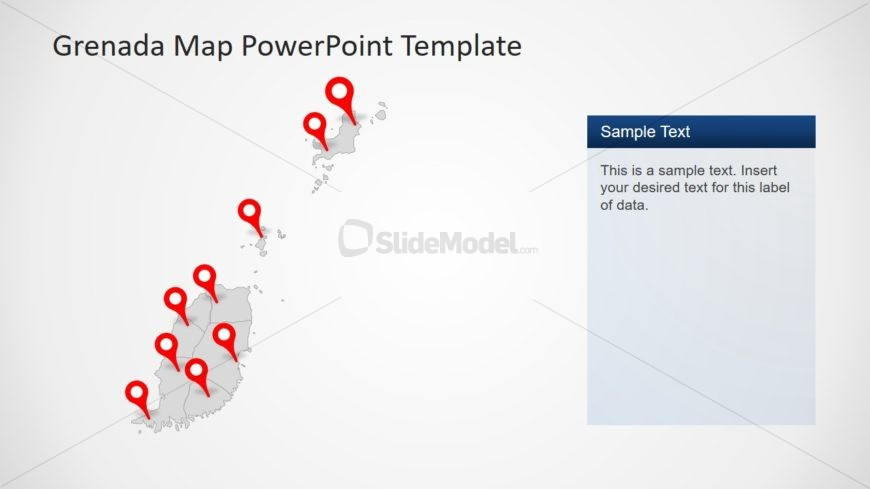 Editable Map of Gray Template