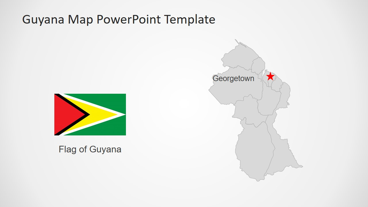 Flag and Map of Guyana