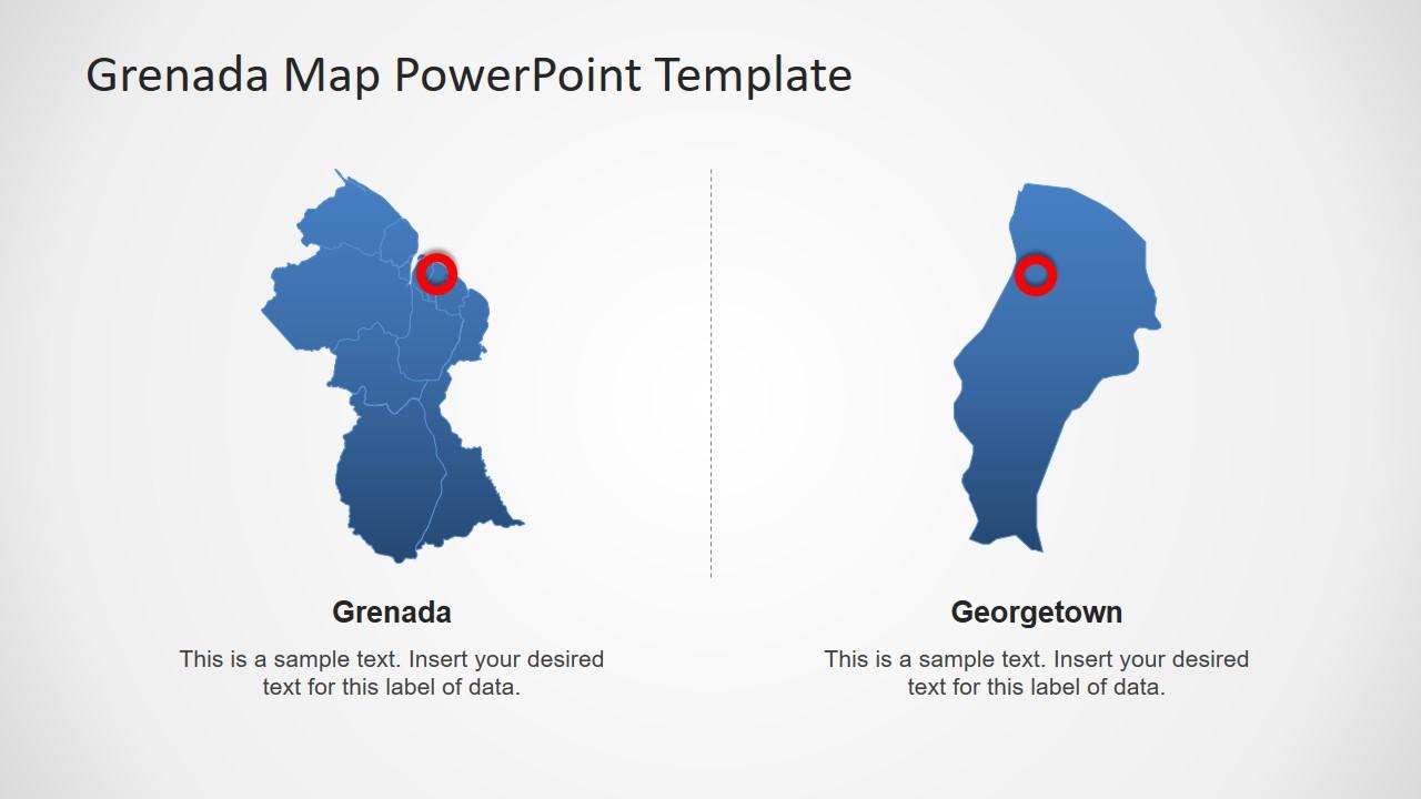 Map Template of Guyana