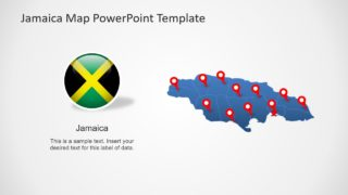 Editable Jamaica Map PowerPoint Template