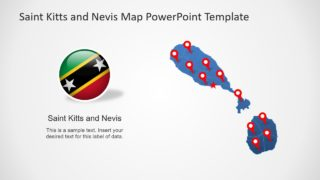 Flag and Map Template Saint Kitts and Navis