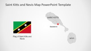 Flag and Map Template of Saint Kitts