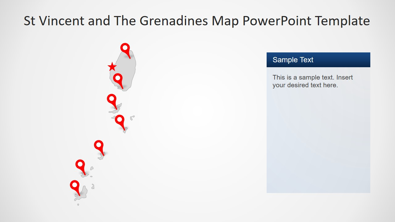 Gray Map Template of St Vincent