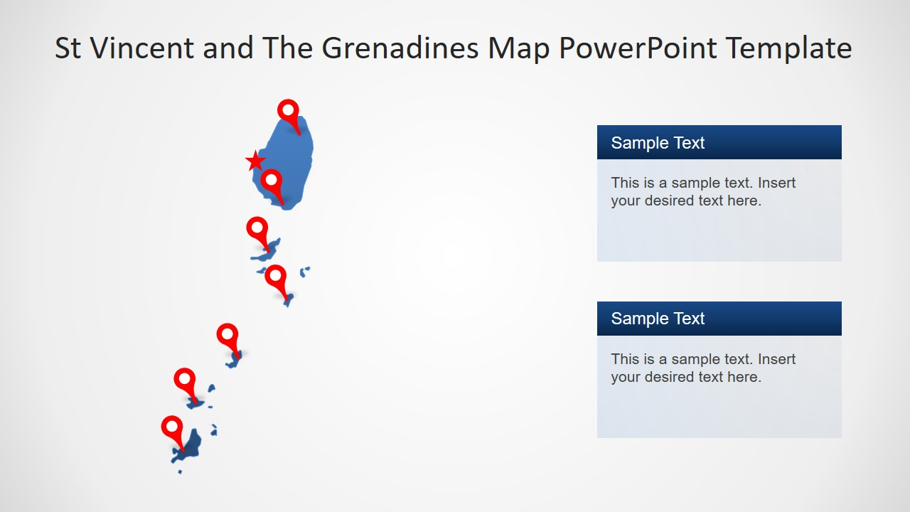 Island PowerPoint Map of St Vincent