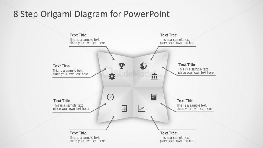 8 Steps Flat PowerPoint Diagram