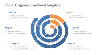 Template of 6 Step Spiral