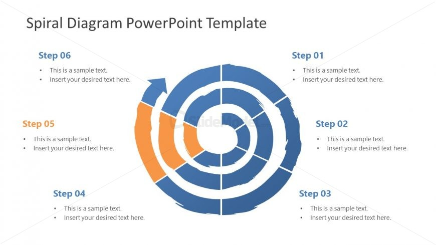 Business PowerPoint Diagram of Spiral