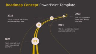 Dark Mode Roadmap Concept PowerPoint Template