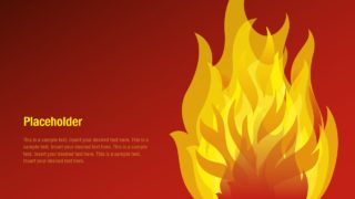 Flame PowerPoint Shape