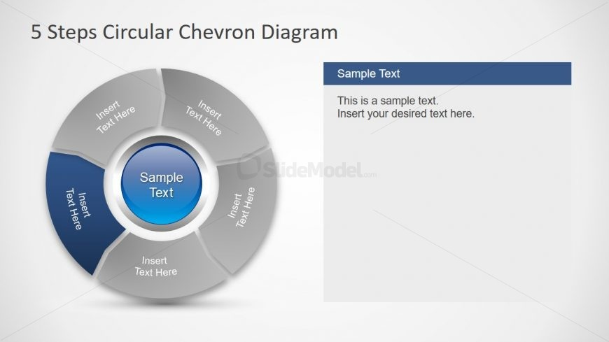 Slide of 5 Chevron Segments