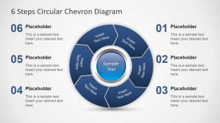 6 Steps Circular Chevron PowerPoint Diagram