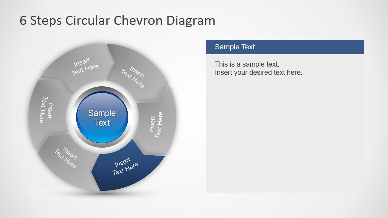 PPT 6 Steps Diagram of Chevron