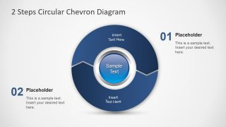 2 Steps Circular Chevron PowerPoint Diagram