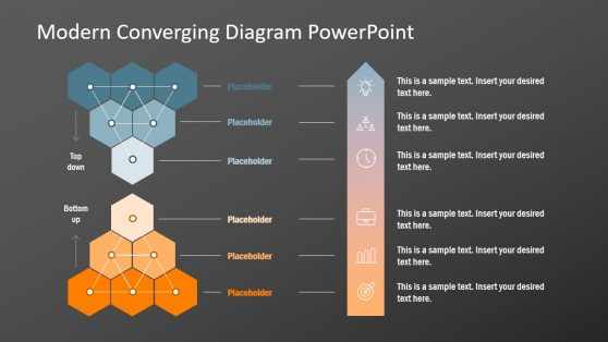 Network of Hexagon Converging PPT