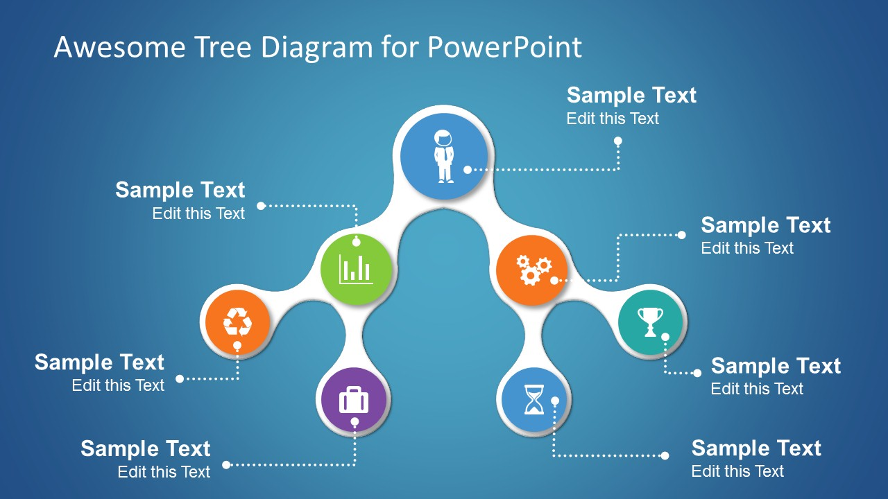 professional powerpoint templates  amp  slides   slidemodel comawesome tree diagram template for powerpoint