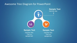 Simple Tree Diagram Slide Design with Icons for PowerPoint