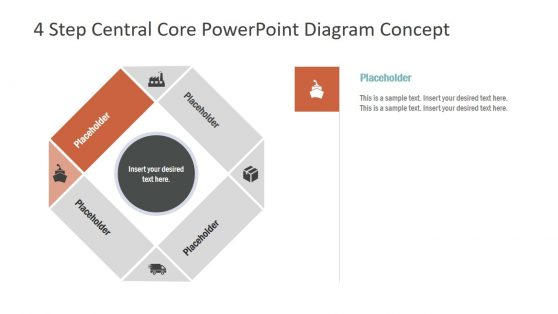 PowerPoint Concept Diagram 4 Steps