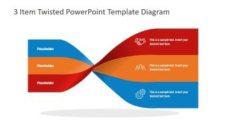 3 Item Twisted PowerPoint Template