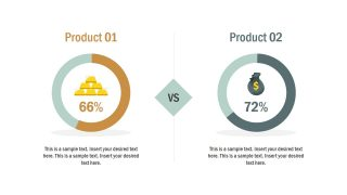 Product Comparison A vs B PowerPoint Template