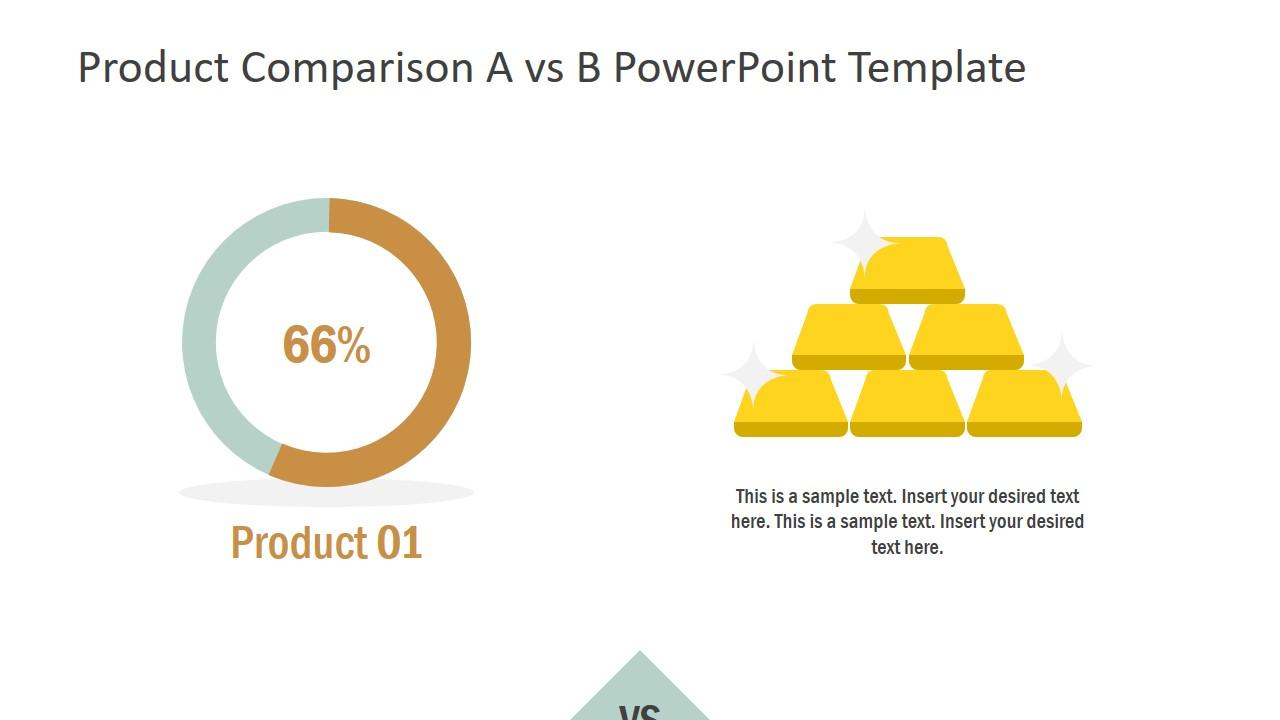 Financial COmparison Chart Slide
