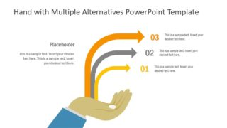 Hand with Multiple Alternatives PowerPoint Template
